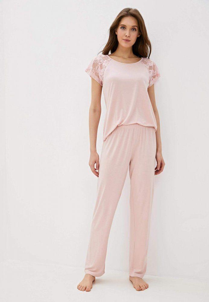 Damska bambusowa piżama SUSANA Różowy