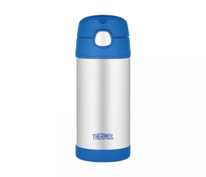 Kubek dla dzieci ze słomką Thermos FUNtainer 355 ml (stalowy/niebieski)