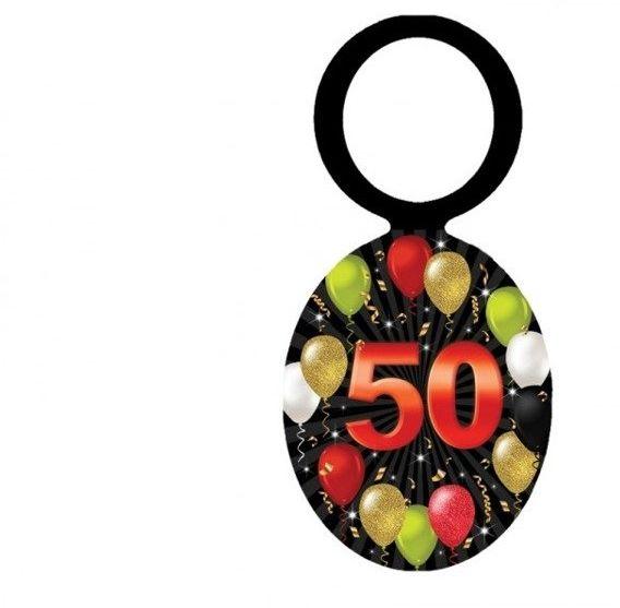 Zawieszki na butelki 50 urodziny 20szt EL209