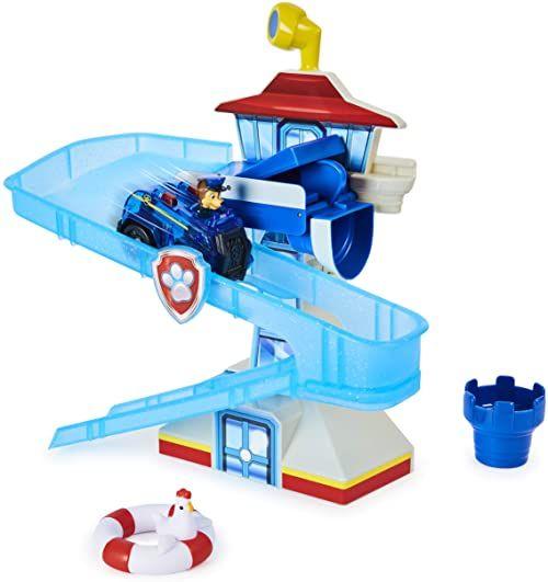 PAW Patrol Adventure Bay zestaw do zabawy do kąpieli z samochodem Light-up Chase (Light-up Chase), zabawka do kąpieli dla dzieci w wieku od 3 lat
