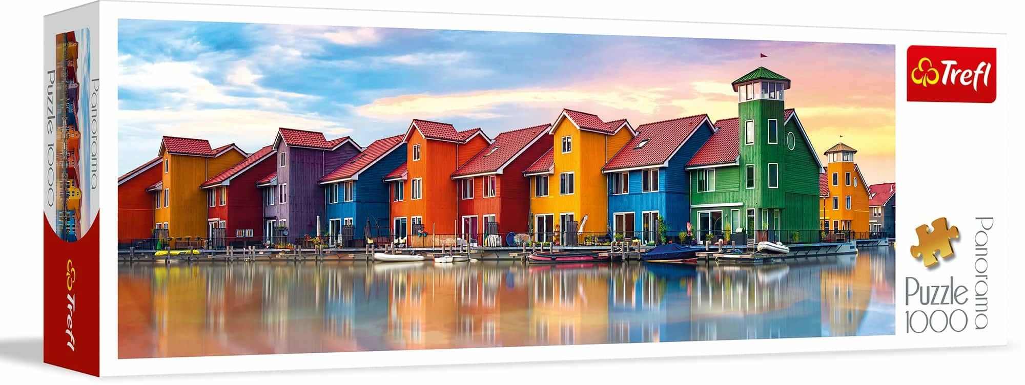 Trefl Groningen, Holandia Puzzle Panoramiczne 1000 Elementów o Wysokiej Jakości Nadruku, od 12 lat
