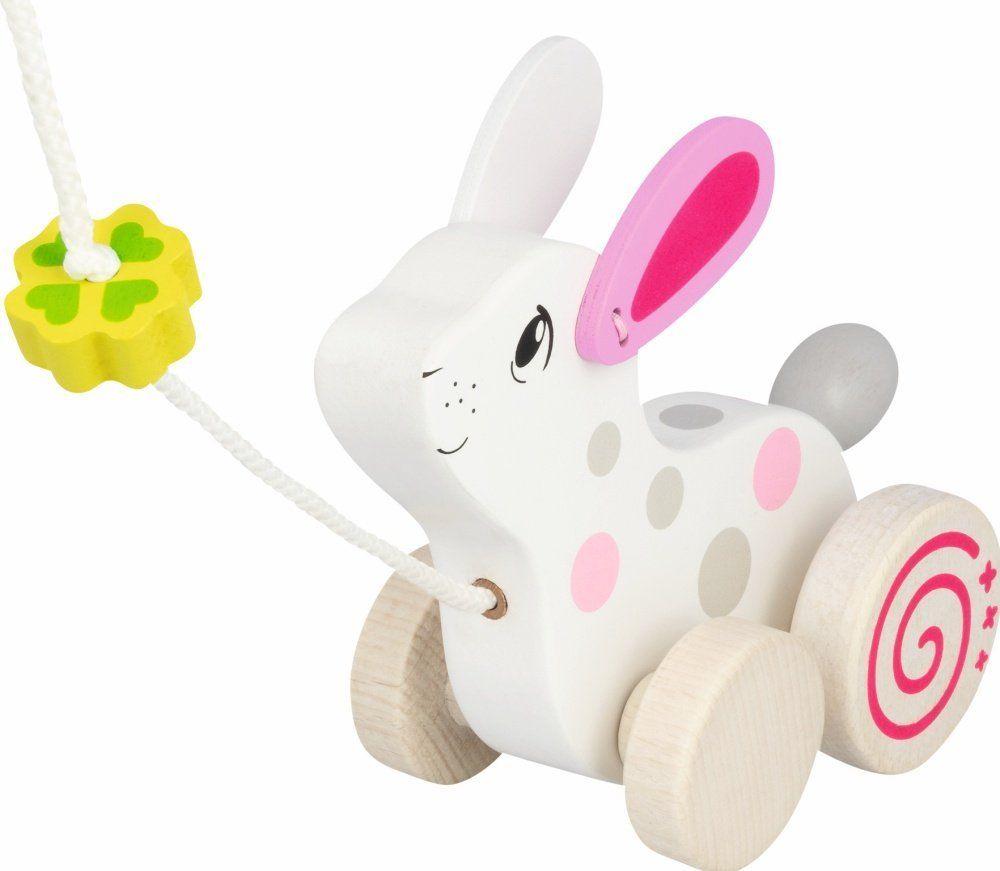 Zabawka do ciągnięcia Biały króliczek 54897-Goki, zabawy ruchowe
