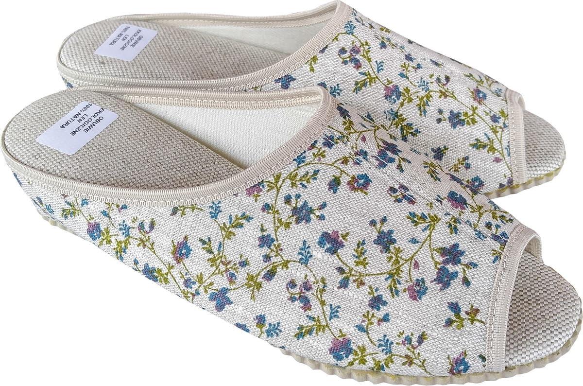 Ekologiczne klapki pantofle len