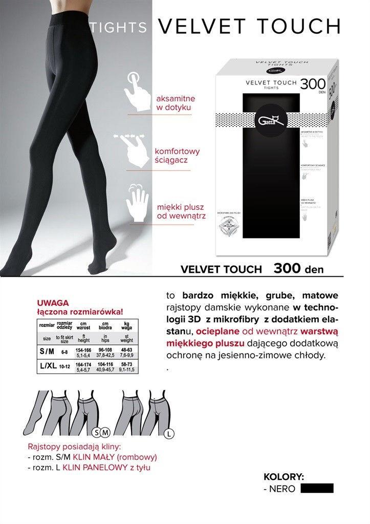 Gatta Velvet Touch 300 Den Nero
