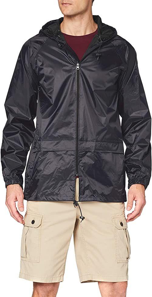 Regatta Męska kurtka dżinsowa Trw408 80070 z jednolitym kapturem z długim rękawem, czarna, duża