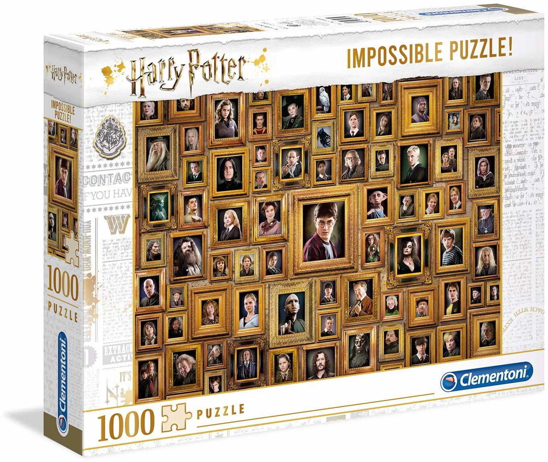 Clementoni Puzzle Harry Potter Impossible 61881, 1000 części, wielokolorowe