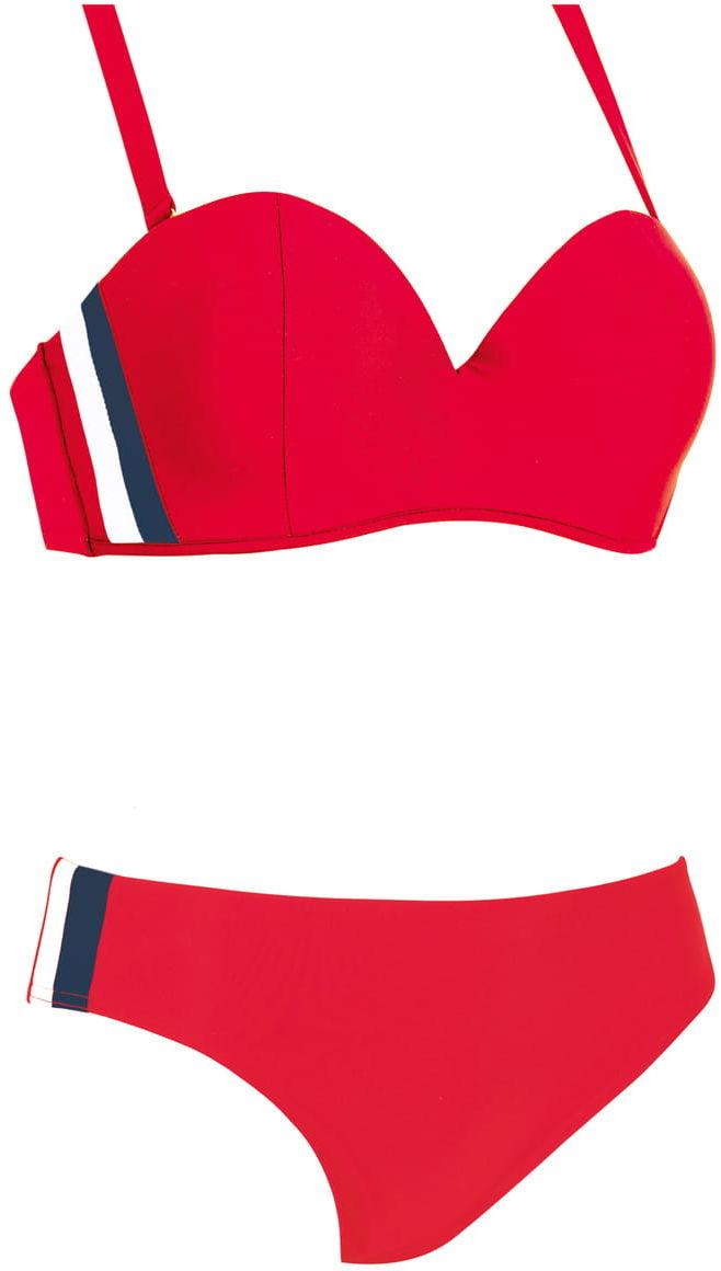 Kostium kąpielowy damski dwuczęściowy SELF S730NK3 6B.1 czerwony