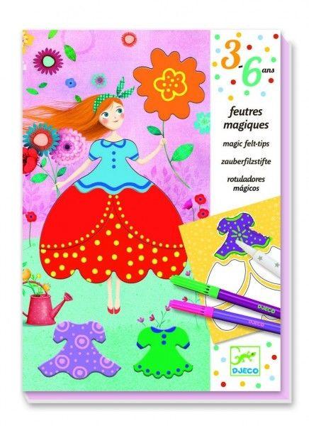 Djeco - Zestaw Artystyczny Pretty Dresses Dj09886