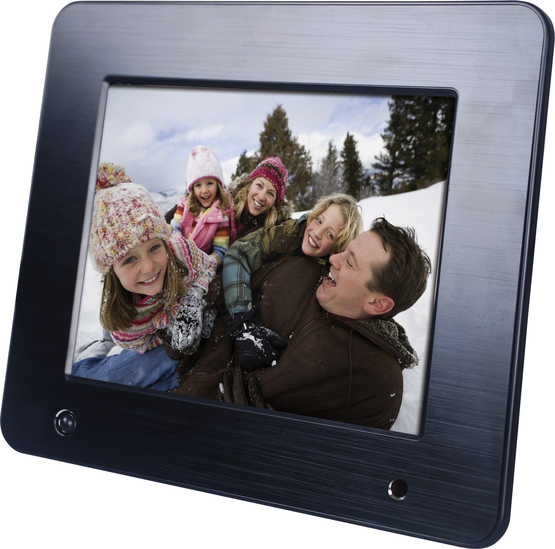 Rollei Designline 6080 cyfrowa ramka na zdjęcia (wyświetlacz 20,3 cm (8 cali), gniazdo kart, USB 2.0, czarna