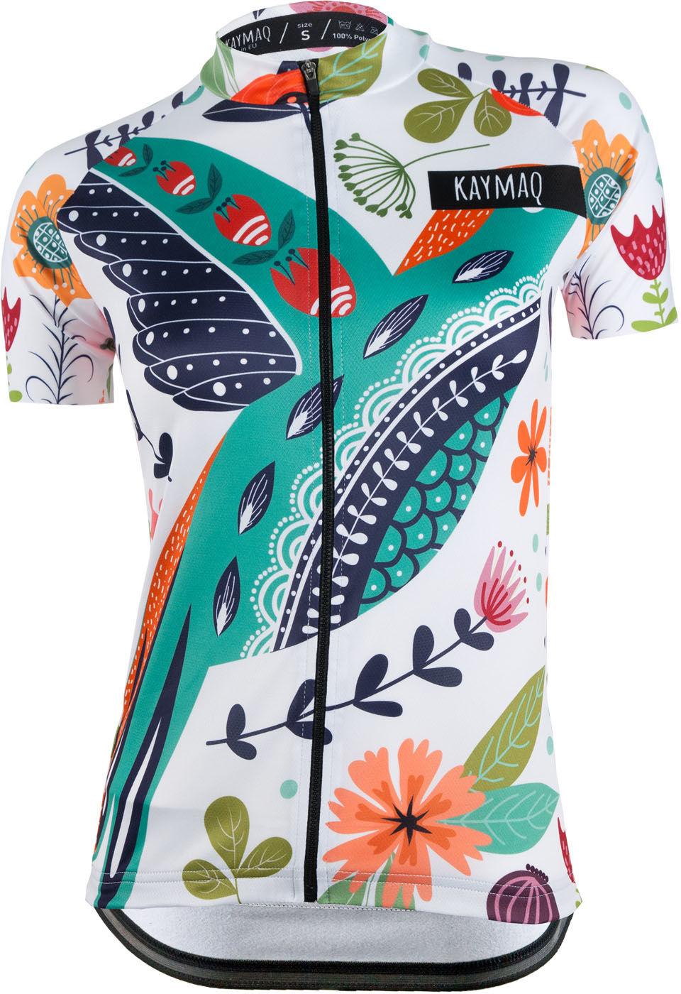 KAYMAQ DESIGN W22 damska koszulka rowerowa krótki rękaw Rozmiar: S,KMQ-W22-KOSZ
