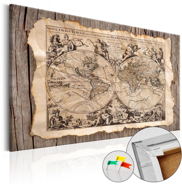 Obraz na korku - mapa przeszłości [mapa korkowa]