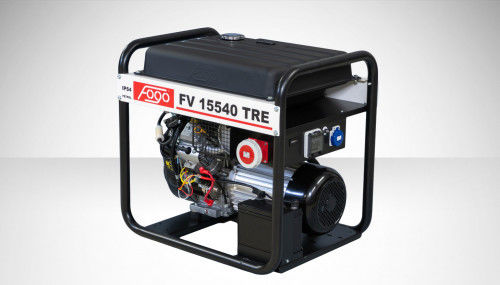 Fogo FV 15540 TRE Agregat prądotwórczy trójfazowy 400V/230V - AVR automatyczny regulator napięcia, powiększony zbiornik paliwa, elektryczny rozrusznik