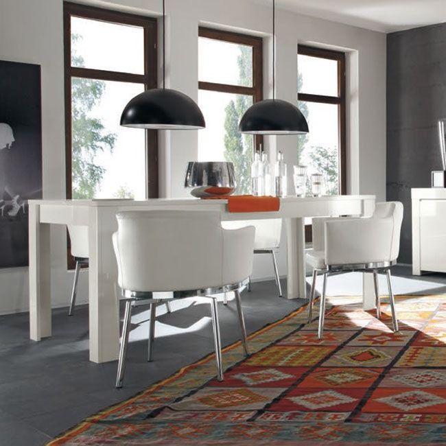 Stół włoski 180x90 cm biały wysoki połysk
