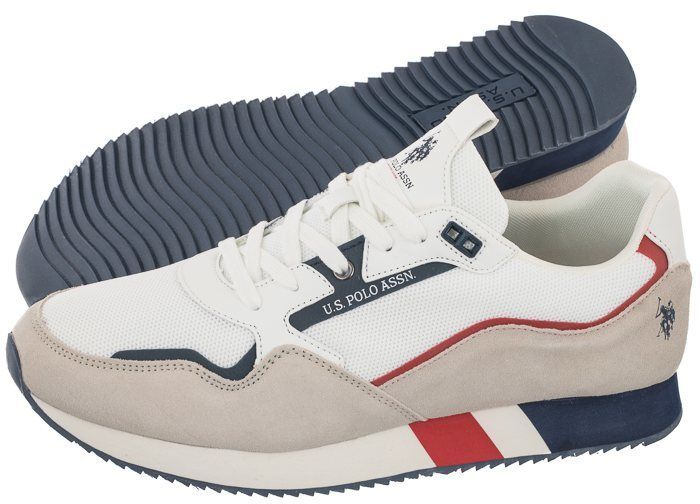 Sneakersy U.S. Polo Assn. Lewis143 Whi LEWIS4143S1/HM1 (US73-b)