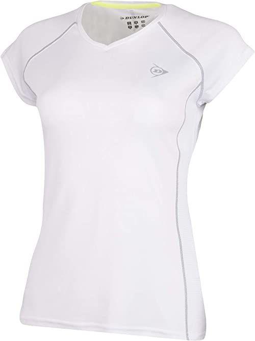 Dunlop Dziewczęca 71405-176 Club Line Crew T-shirt, biały, 176