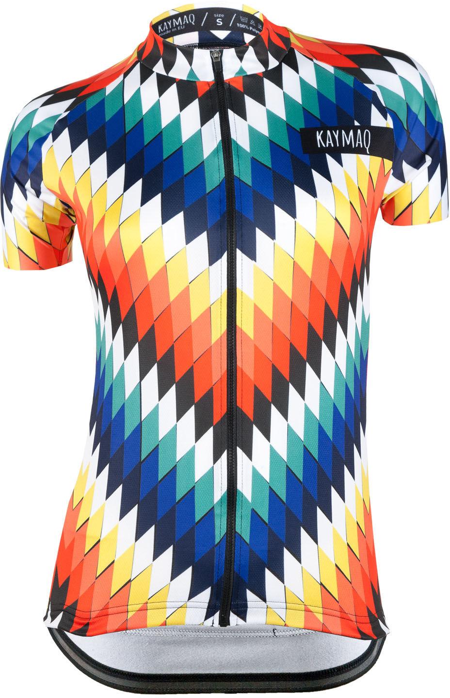 KAYMAQ DESIGN W1-M50 damska koszulka rowerowa krótki rękaw Rozmiar: L,KYMQ-W1M50-KOSZ