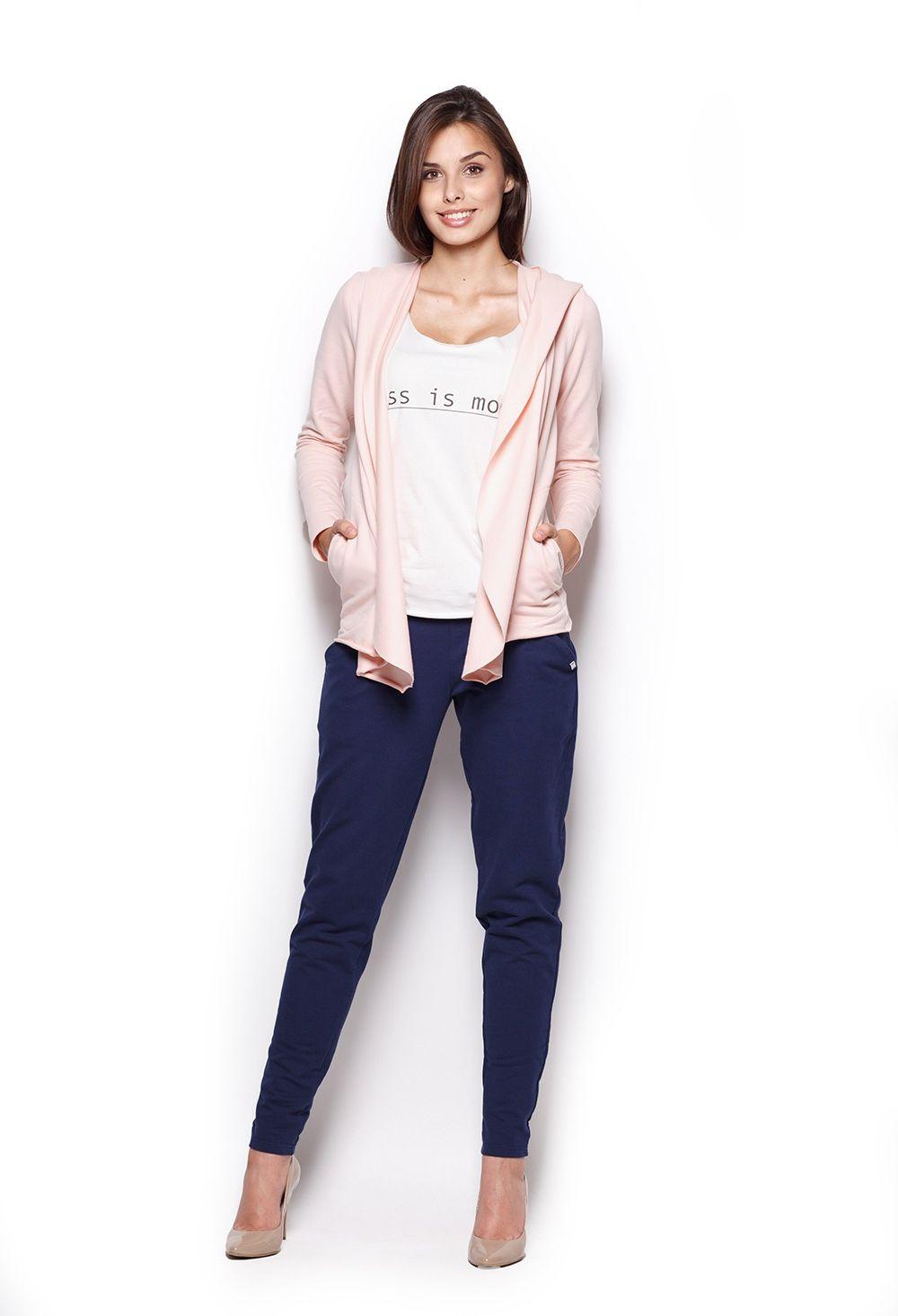 Bluza z wolnymi połami - różowa
