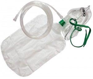 Maska tlenowa dla dorosłych (XL) z rezerwuarem tlenu i drenem 2,1 m