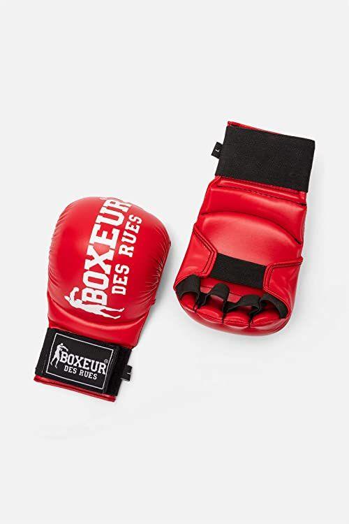 Boxeur Des Rues Unisex Fight Activewear Serie Karate i Fit-Rękawice bokserskie, czerwone, duże