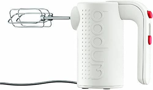 Bodum BISTRO elektryczny mikser ręczny (akcesoria ze stali nierdzewnej nadają się do mycia w zmywarce, 5 stopni prędkości), kolor kremowy
