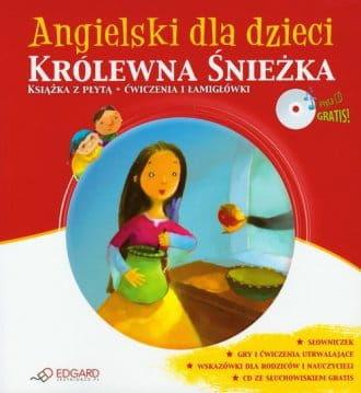 Angielski dla dzieci Królewna Śnieżka Książka z płytą Ćwiczenia i łamigłówki (+ CD)
