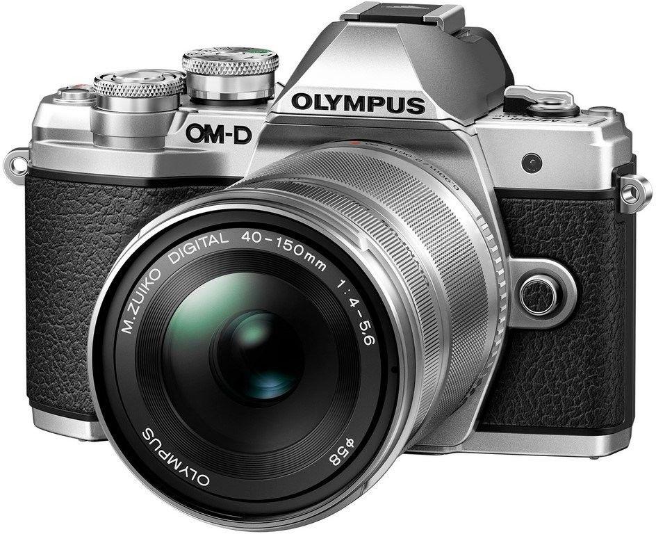 Olympus OM-D E-M10 Mark III+14-42mm EZ+ 40-150mm R Srebrny