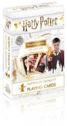 Karty do gry Waddingtons No. 1 Harry Potter White ZAKŁADKA DO KSIĄŻEK GRATIS DO KAŻDEGO ZAMÓWIENIA