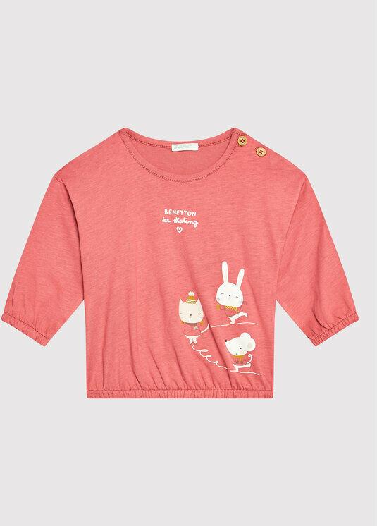 Bluzka 3ATNMM29A Różowy Regular Fit