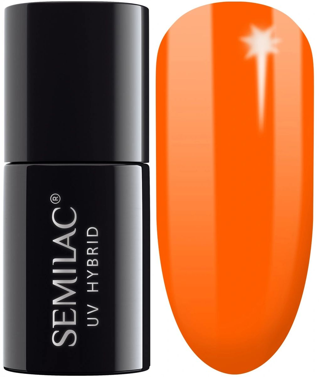 Semilac 566 Neon Orange lakier hybrydowy 7ml