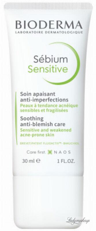BIODERMA - Sebium Sensitive - Łagodzący krem do twarzy wspomagający leczenie skóry trądzikowej - 30 ml