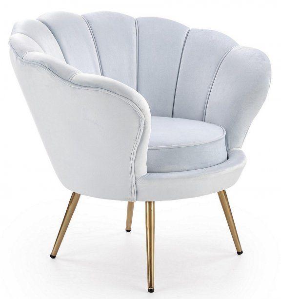 Fotel Amorino - jasnoniebieski