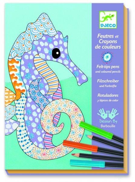 Djeco - Zestaw Artystyczny Morskie Zwierzęta Dj08648