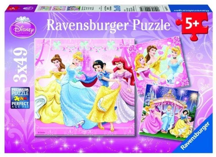 Puzzle 3x49 Królewna Śnieżka - Ravensburger
