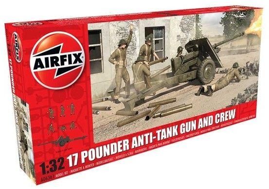 Brytyjskie Działo Przeciwpancerne model do sklejania Airfix