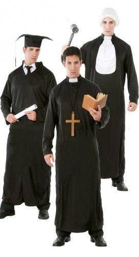 Strój dla mężczyzny na karnawał 3w1: Student, Ksiądz, Sędzia