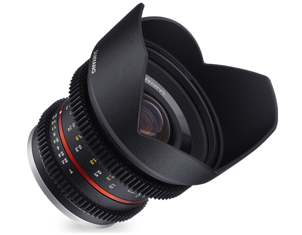 Samyang 12mm T2.2 Cine NCS CS VDSLR - obiektyw do Sony E Samyang 12mm T2.2 Cine NCS CS VDSLR