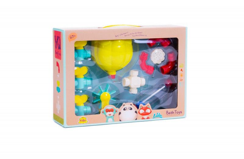 Zestaw zabawek do wody-rury, krany, zębatki