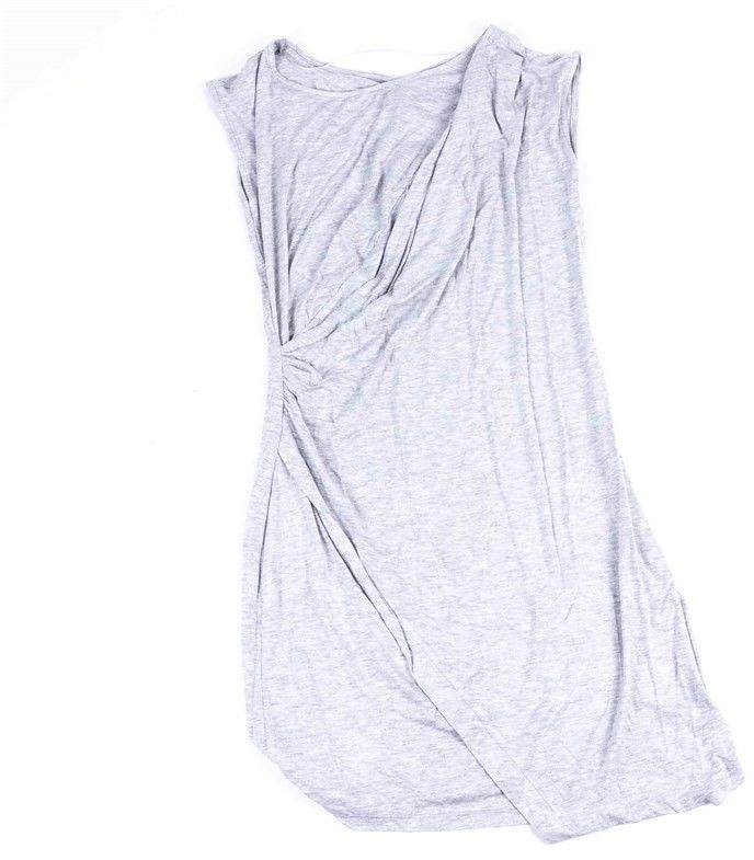 sukienka BENCH - Asymmetric Jersey Dress Summer Grey Marl (MA1026)