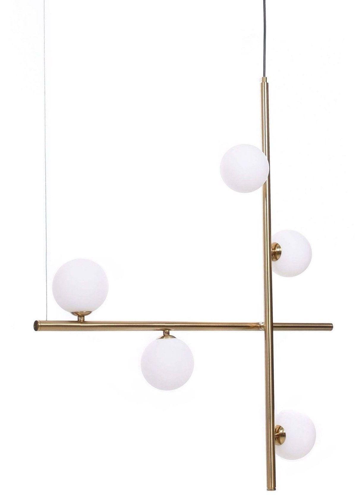 NOWOCZESNA LAMPA WISZĄCA MOSIĘŻNA RIANZA W5