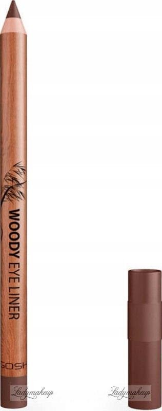 GOSH - WOODY EYE LINER - Wodoodporna kredka do oczu - 002 MAHOGANY