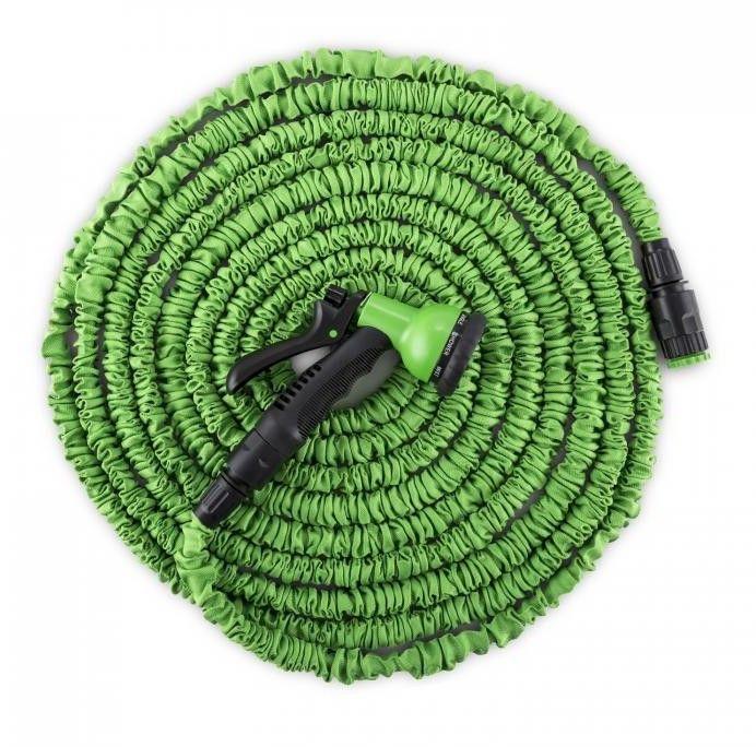 Waldbeck Water Wizard 22 Elastyczny wąż ogrodowy8 funkcji 22,5 m zielony
