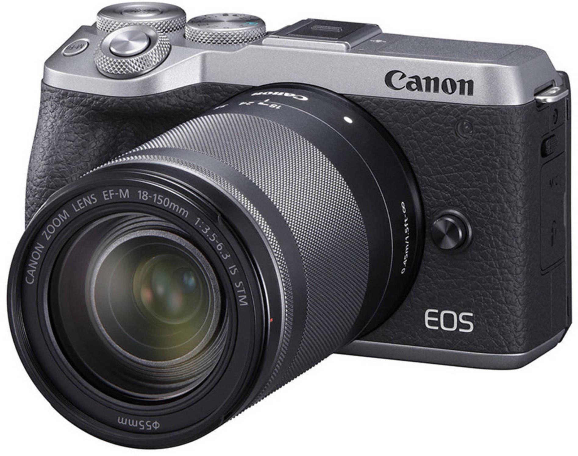 Canon EOS M6 Mark II + EF-M 18-150 mm f/3.5-6.3 IS STM Srebrny