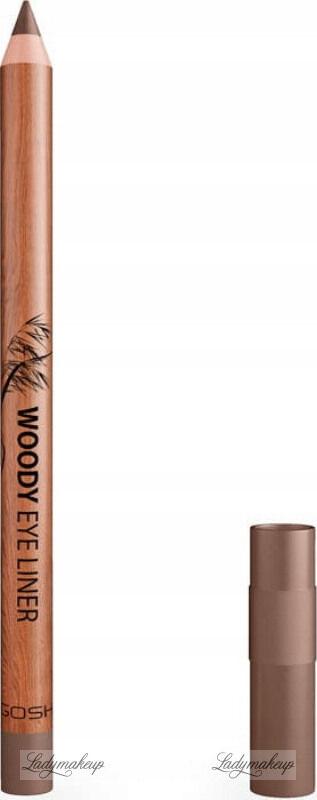 GOSH - WOODY EYE LINER - Wodoodporna kredka do oczu - 003 TEAK