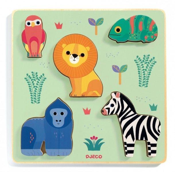 Djeco - Prewniane Puzzle Przestrzenne Emilion Dj01058