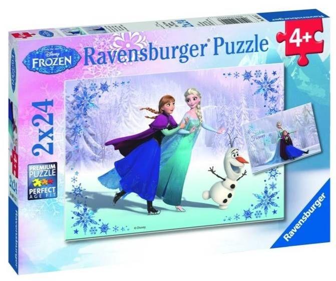 Puzzle 2x24 Kraina Lodu. Siostry na zawsze - Ravensburger