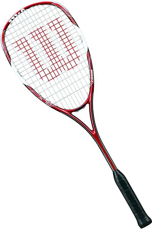 Wilson Rakietka do squasha dla kobiet/mężczyzn, zaawansowanych, Tour 150, WRT912330, czerwony/biały