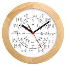 Zegar drewniany solid geometria