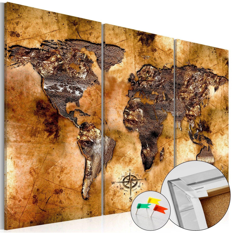 Obraz na korku - odcień złota [mapa korkowa]
