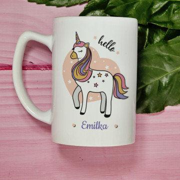 Hello unicorn - kubek personalizowany