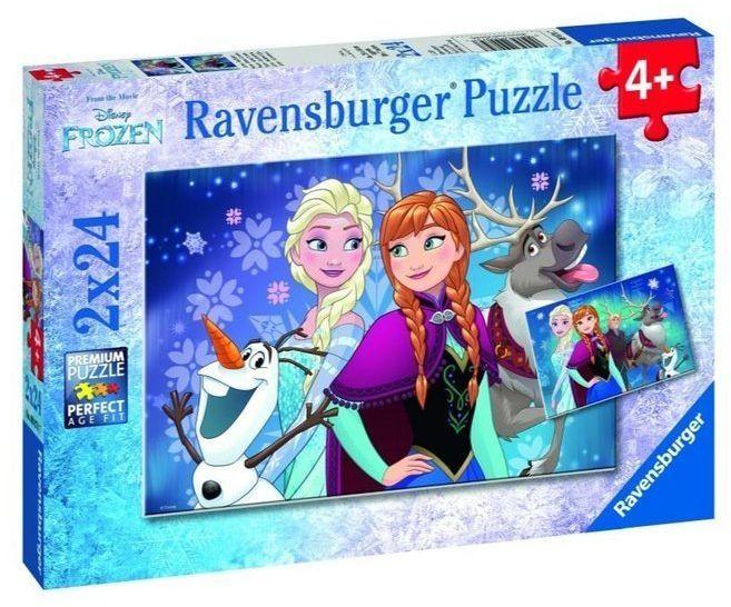 Puzzle 2x24 Kraina Lodu. Przyjaciele - Ravensburger